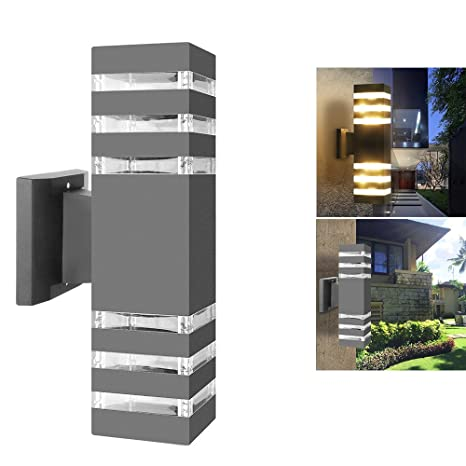 Lights & Lighting Outdoor Waterproof Ip65 Up Down Aluminum Cylinder Led Wall Light Modern Style Dual Head E27 Wall Lamp Ac 85-240v For Courtyard Traveling Led Lamps