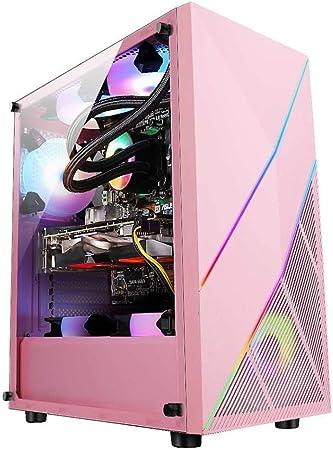 WSNBB Caso Juego Rosa, Semitorre ATX/M-ATX/ITX Caja De La Computadora PC For Juegos,