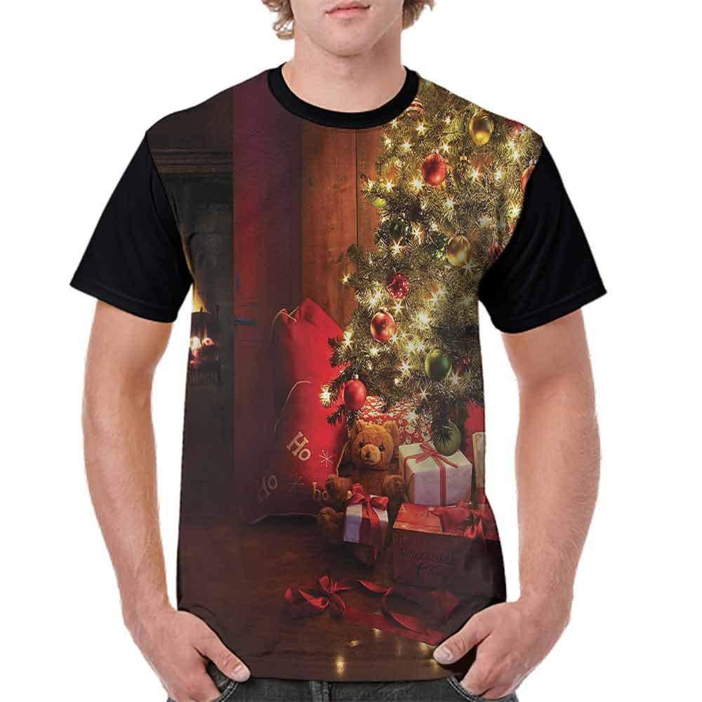 BlountDecor Casual Short Sleeve Graphic Tee Shirts,New Year Xmas Trees Fashion Personality Customization