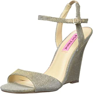 80cb3b3a2d04 Betsey Johnson Women s Duane Wedge Sandal