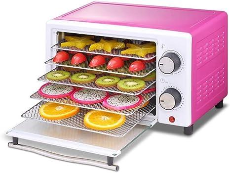 Opinión sobre L.TSA Deshidratador de Alimentos Deshidratador de Alimentos, Temporizador de Control de Temperatura Bandeja de Acero Inoxidable de 5 Capas, Secadora de Alimentos, Procesamiento de Carne fres