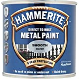 Hammerite Metal Paint Smooth 250ml Silver by Hammerite