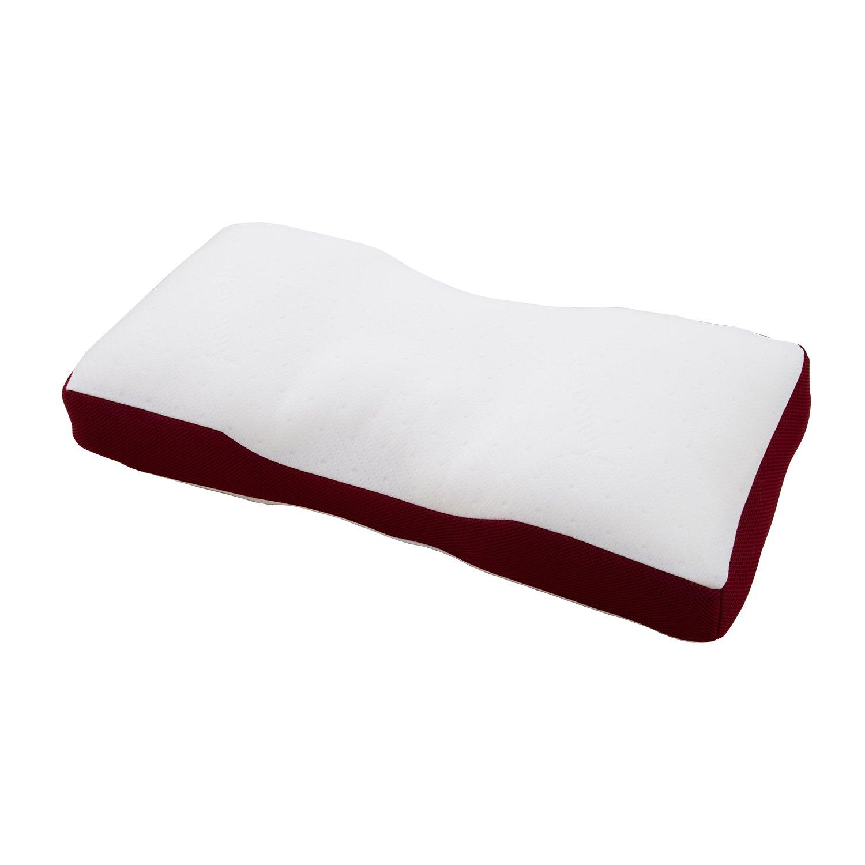 EFFECT 枕 安眠 人気 肩こり スリープメディカル マイクロファイバー枕 愛媛大学 医学部付属病院 睡眠医療センター枕 約35×70×7cm B07D7VZWHJ レッド 35×70×7㎝