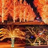 33ft 100 LED String Lights Dimmable Starry Rope Lights with Remote Control IP65 Waterproof Fairy Lights for Bedroom, Patio, Garden, Yard, Wedding, Parties, Christmas, Halloween