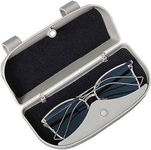 Vosarea Brillenhalter Für Auto Sonnenblende Universal Auto Sonnenbrille Brillenetui Aufbewahrungsbox Organizer Auto