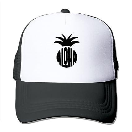 HFJS JDJG Aloha Pineapple Unisex Men s And Women s Adjustable Baseball Cap  Mesh Hat Trucker Caps 86c47964e681