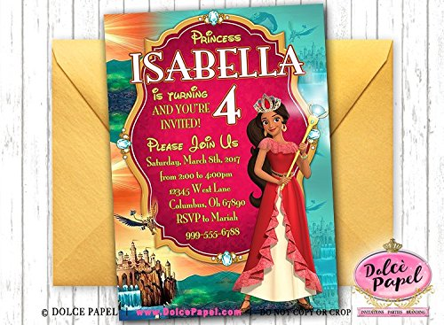 Amazon 10 Elena Of Avalor Birthday Party Invitations ANY AGE