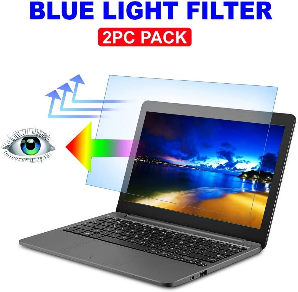 "AyaWico 2PC Pack 11.6 inch Blue Light Blocking Laptop Screen Protector, Blue Light Filter for Notebook Computer Screen 11.6"" Display 16:9"