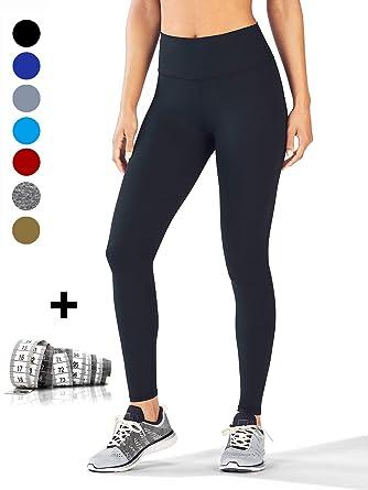 dh Garment Legging de Sport Femme Pantalon Yoga avec Poche Taille Haute  Amincissant Coton - Noir 1a91af0326c
