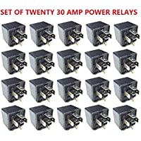 20pcs 12V Volt SPDT Relay Car Automotive Alarm 30 AMP 30A 5 Pin