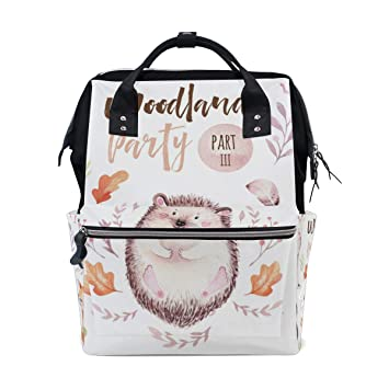 Small Baby Changing Bag Toddler and Baby Travel Pouch Woodland Animal Design Travel Nappy Pouch Includes Pram Straps and Travel Changing Mat