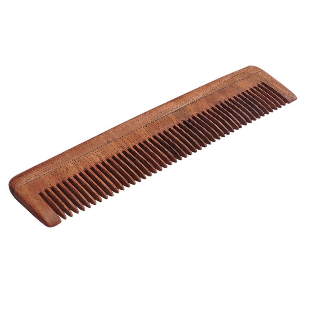 Pure Neem Wood Fine Tooth Comb for Fine Hair | Fine Tooth Neem Comb For Scalp Care | Organic and Natural for Hair and Scalp Health by HealthGoodsIn