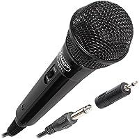 Microfone Dinâmico com Fio P10 Amplificador/Karaokê/Conferências