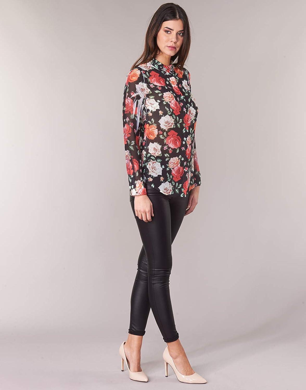 Guess Women's Ls Clouis Shirt Casual Black