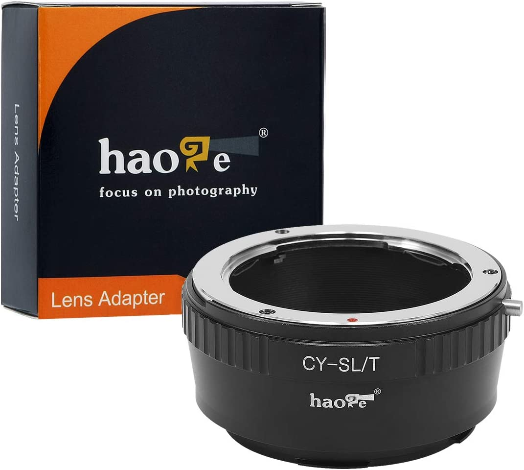 Haoge Manual Lens Mount Adapter for Contax/Yashica C/Y CY Lens to Leica L Mount Camera Such as T, Typ 701, Typ701, TL, TL2, CL (2017), SL, Typ 601, Typ601, Panasonic S1 / S1R