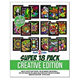 Stuff2Color Super Pack of 18 Fuzzy Velvet Coloring Posters (Creative Edition)