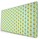 Cute Avocado Large Gaming Mouse Pad Desk Mat Long Non-Slip Rubber Stitched Edges Mice Pads 15.8x29.5 in