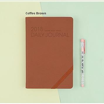 amazon co jp ardium coffee brown colour 2018 daily journal m