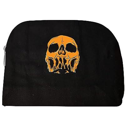 Frightening Orange Skull On Halloween - Cosmetic Case