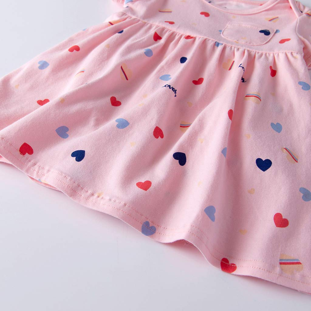 Amlaiworld/Ropa beb/é ni/ña Verano Vestidos ni/ña Beb/é reci/én Nacidos Vestido Floral de Manga Corta para ni/ña peque/ña Princesa Romper Vestidos Monos Ropa