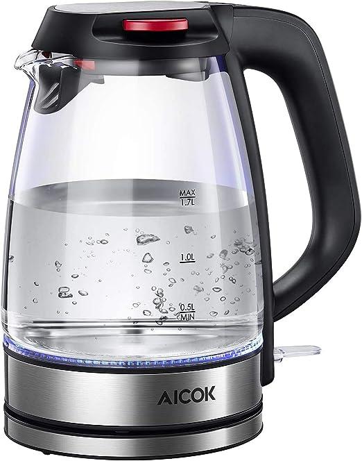AICOK WASSERKOCHER, 1,7L Wasserkocher mit