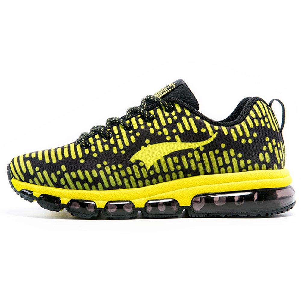 ONEMIX Air Zapatillas de Running Para Hombre Mujer Zapatos Para Correr 41 EU|Amarillo negro