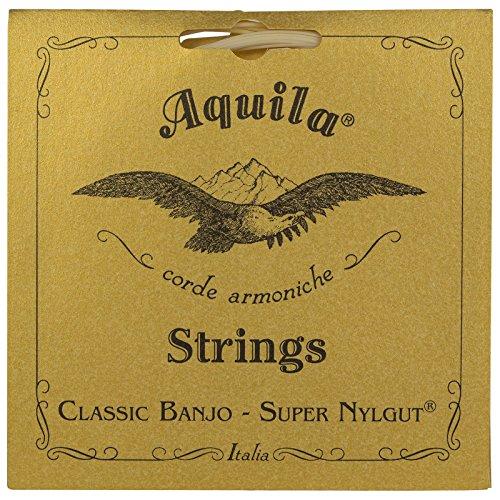 (Aquila New Nylgut AQ-1B Banjo Medium Tension DBGDG-Set of 5 (4th Red Series String))