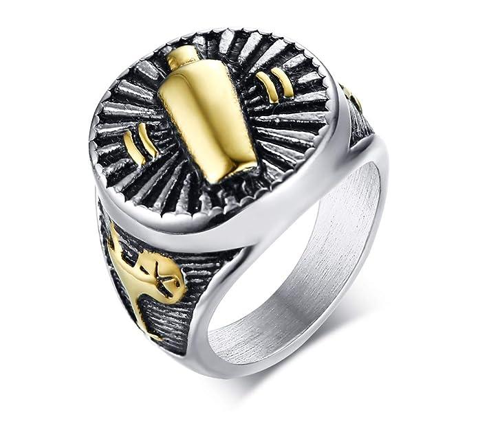 Blisfille Anillos Pareja Anillo de Hombre Oro Rolex Anillos ...