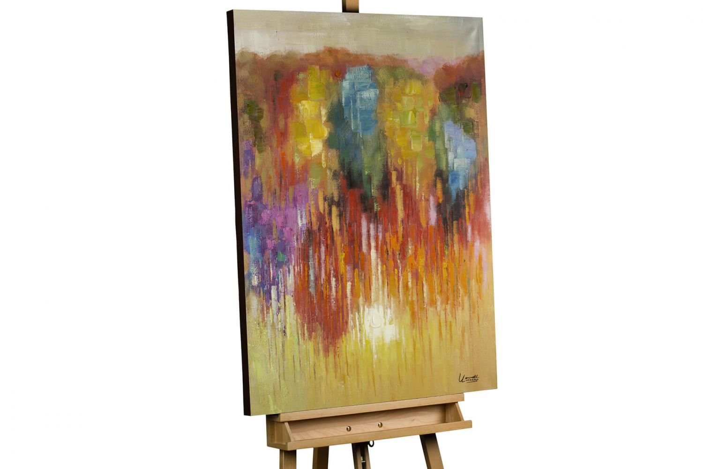 KunstLoft® Gemälde 'Deine Wärme' in 75x100cm   Leinwandbild handgemalt   Abstrakt Bunt   signiertes Wandbild-Unikat   Acrylgemälde auf Leinwand   Modernes Kunstbild   Original Acrylbild auf Keilrahmen