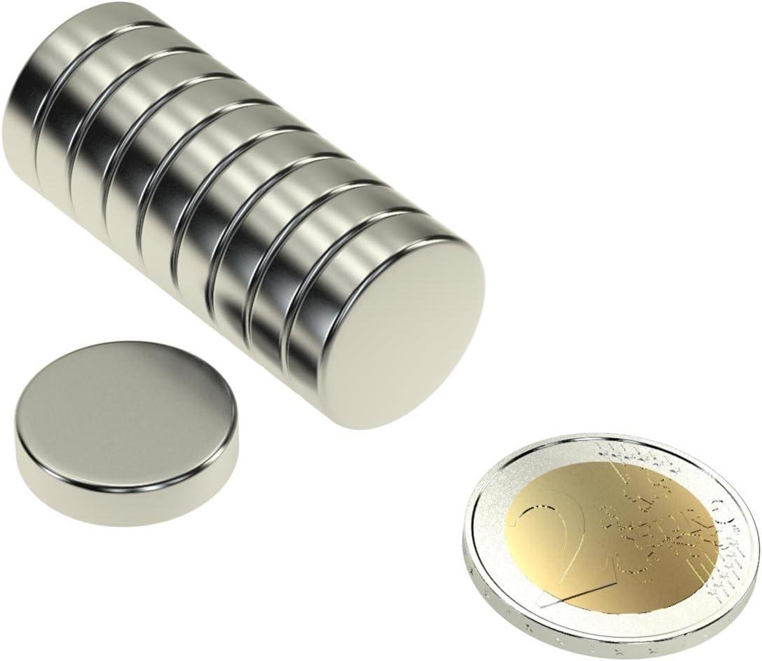 10 x FERRIT QUADERMAGNET 40x20x10 mm GRADE Y35 MAGNETISIERT DURCH 10 mm AXIAL