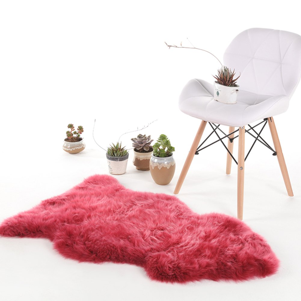 Plush seat cover,Bedroom Room carpet Home bed blanket Fluffy rug Floor seat More colors-rose Red 60x95cm(24x37inch)