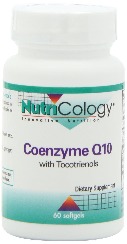 コエンザイムQ10 100 mg とトコトリエノール  60 ソフトジェル Coenzyme Q10 with Tocotrienols 60 Softgels #53460 B000158FFQ