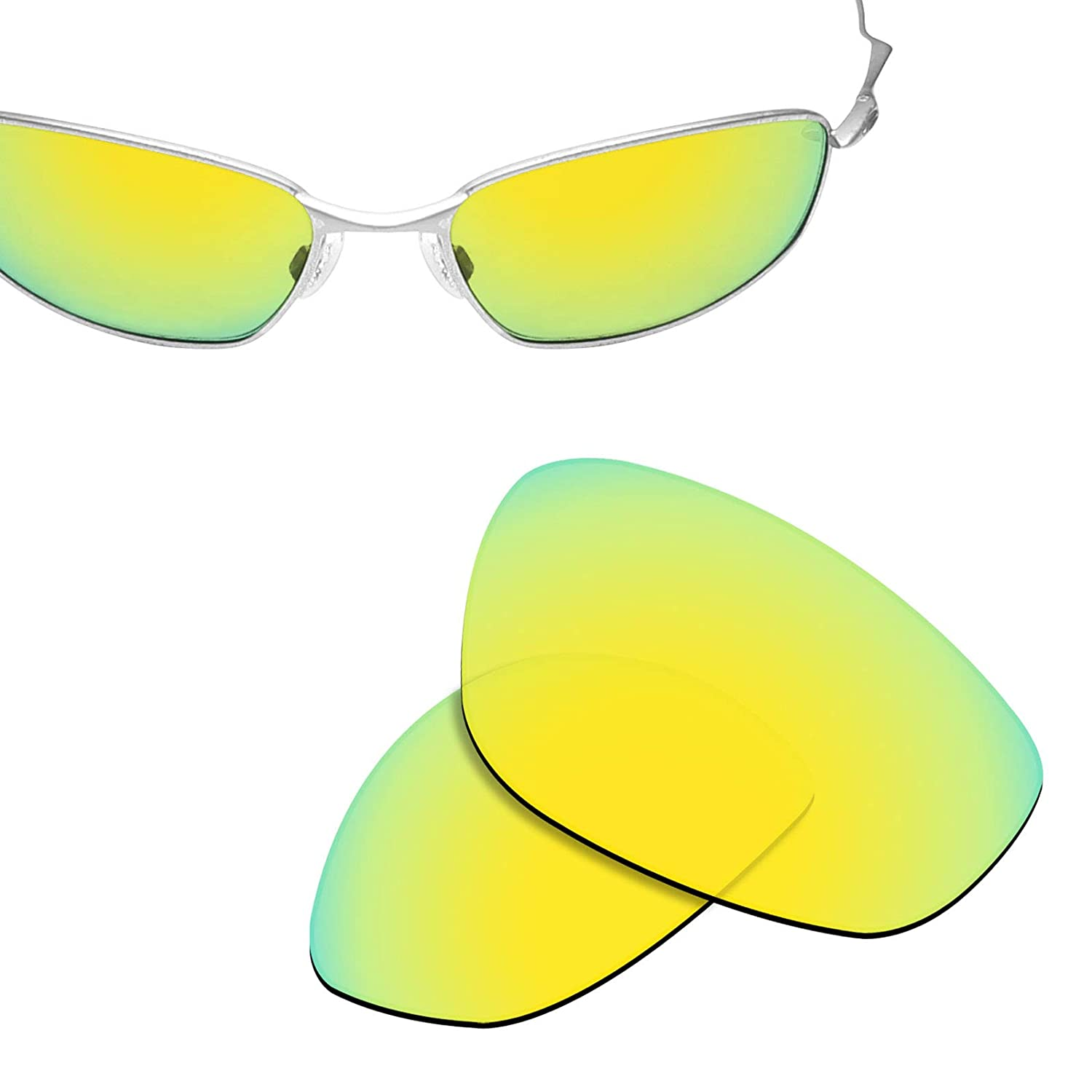 60225833c4d Amazon.com  New 1.8mm Thick UV400 Replacement Lenses for Oakley Whisker -  Options  Clothing