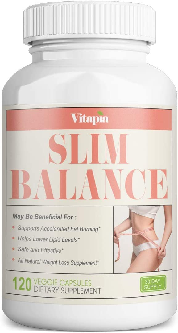 Vitapia Slim Balance – Fat Burner, Weight Loss Supplements for Women and Men, Support Healthy Glucose Metabolism – 120 Veggie Capsules – Non-GMO