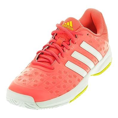 7c4fd1157 adidas Barricade Club Juniors Tennis Shoe 2.5 Flash Red White Shock Slime