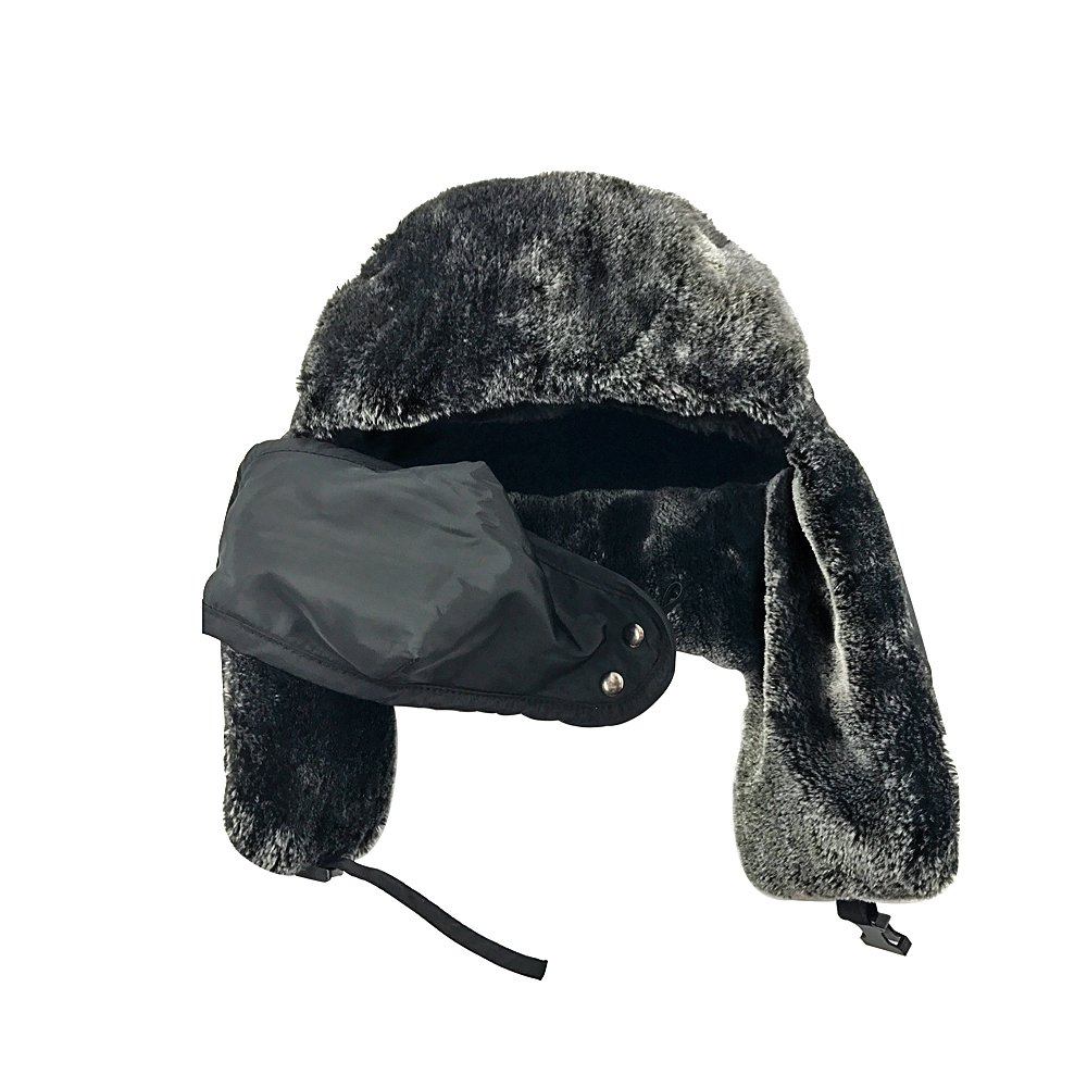 AIMKU Winter Trooper Hat,Trapper Hat with Detachable Water Resistant Facemask Mask,Ear Flap Chin Strap with Windproof Mask