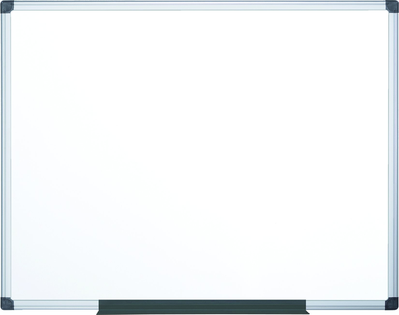 MasterVision Maya Magnetic Lacquered Steel Dry Erase Board, 4' x 6', Whiteboard with Silver Frame (MA2707170)