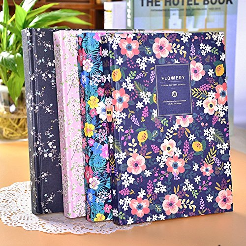 katoot-korean-stationery-vintage-floral-hard-cover-notebook-small-fresh-flower-a5-notepad-diary-plan