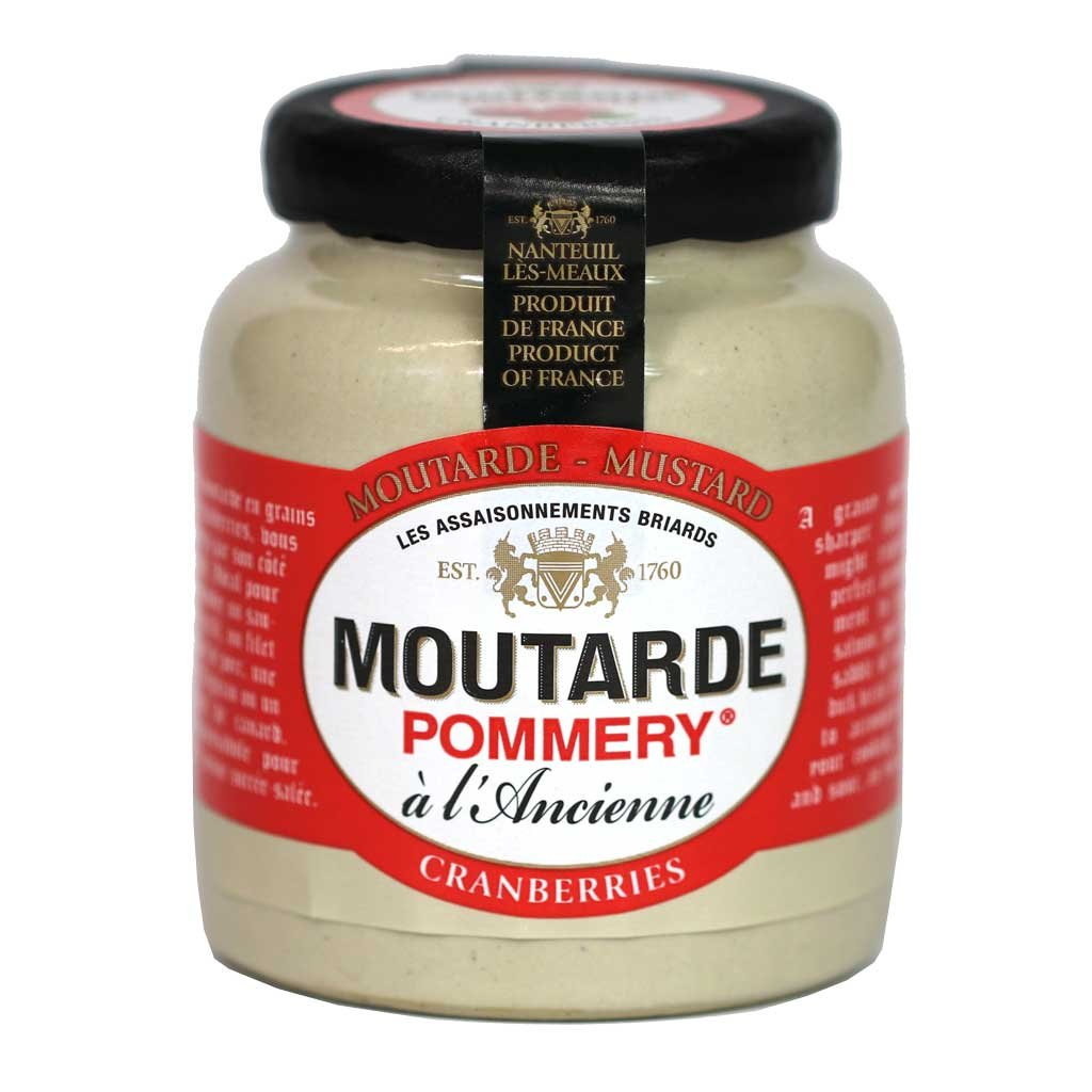 Pommery - Whole Grain Mustard (Cranberry Flavored), 100g by Pommery