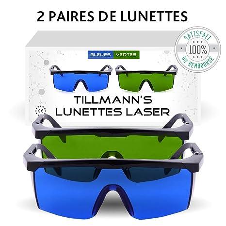 Lunettes Laser Tillmann s- Deux paires de Lunettes de Protection contre la  Lumière Pulsée. Avec 4cc15e5cf7ef