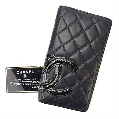 46db9e9d1263 (シャネル) Chanel 長財布 ファスナー付き長財布 ブラック×ピンク カンボンライン レディース 中古