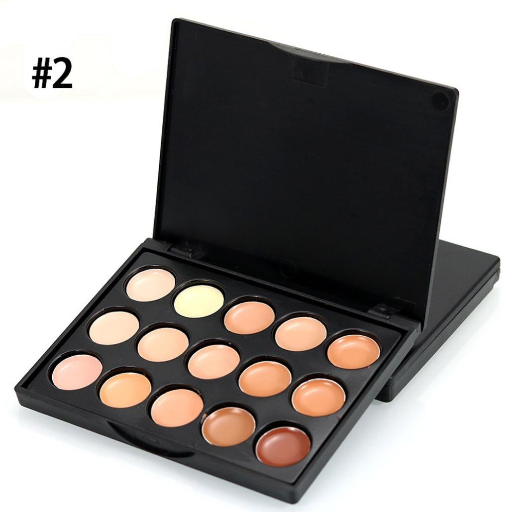 Exteren 15 Colors Face Concealer Easy to Wear Camouflage Cream Makeup Palette (B)