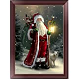Adarl 5D DIY Diamond Painting Rhinestone Pictures of Crystals Embroidery Kits Arts, Crafts & Sewing Cross Stitch(Santa…