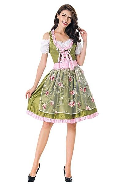 Amazon.com: Fengstore - Vestido para mujer, estilo alemán ...