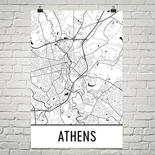 Athens Ga Poster, Athens Ga Art Print, Athens Ga Wall Art, Athens Ga Map,