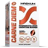 Magnum Nutraceuticals Carne Diem Carnitine Burner - 96 Capsules - Increases Fat Loss - L-Carnitine - Fat Burner - Energy Boost - Preserves Glycogen