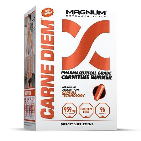 Magnum Nutraceuticals Carne Diem Carnitine Burner – 96 Capsules – Increases Fat Loss – L-Carnitine – Fat Burner – Energy Boost – Preserves Glycogen