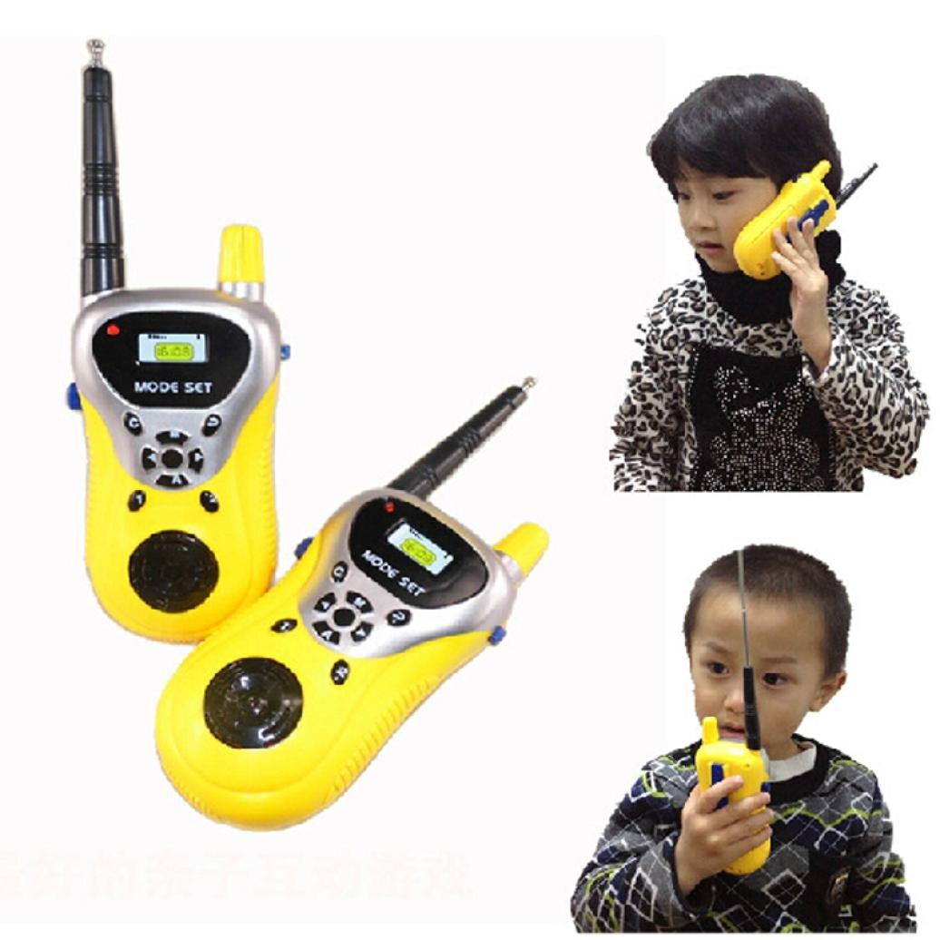 Malloom® 2Pcs Walkie Talkie para niños Juguetes electrónicos portátiles radio de dos vías Set Malloom®