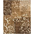 Safavieh Timeless Fashion Collection TFA2650-1491 Dark Beige and Ivory Area Rug (8' x 10')