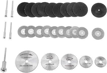 Paquete de 10 piezas 30 mm 8 hoyos hoja de sierra circular de diamante hoja de corte con 2 piezas mandriles para herramienta rotativa